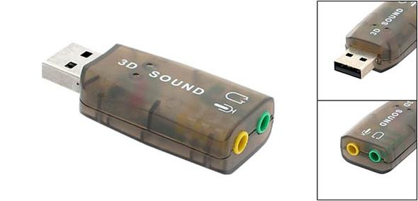 USB-Audio Adapter - (PC, Elektronik, Headset)