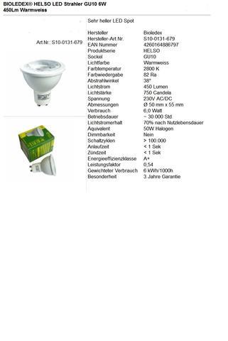 GU10 LED Spot 6 Watt - (LED, Watt, Leuchtmittel)