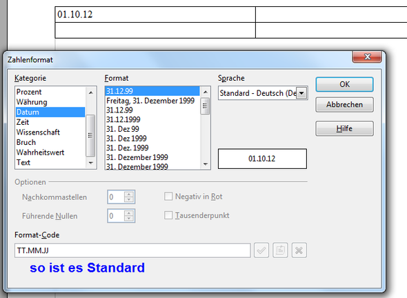 OO Writer Zahlenformat 02 - (Computer, Programm, Text)