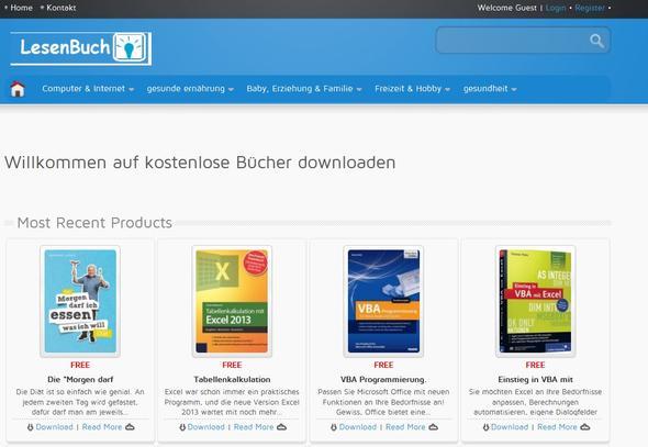 Kostenlose eBooks zum gratis Download  - (kostenlos, downloaden, Ebook)