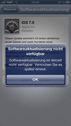 Bild - (iPhone, Apple, Fehlermeldung)