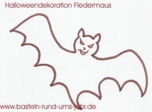 Fledermaus von www.basteln-rund-ums-jahr.de - (Kostüm, Karneval, Fasching)