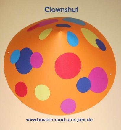 Clownshut von www.basteln-rund-ums-jahr.de - (Kostüm, Karneval, Fasching)