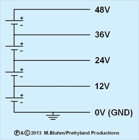 48 volt und 12 volt (Anschluss, Schaltung)
