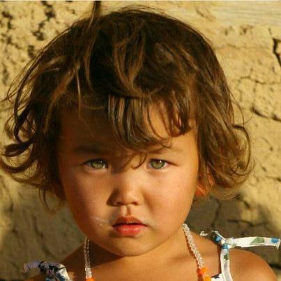 Ein Mädchen in der Westmongolei. - (blond, Asien)