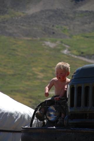 Ein Nomadenjunge aus der Mongolei. - (blond, Asien)