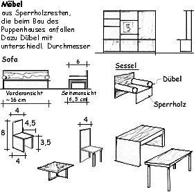 puppenhaus und puppenm bel bauen. Black Bedroom Furniture Sets. Home Design Ideas