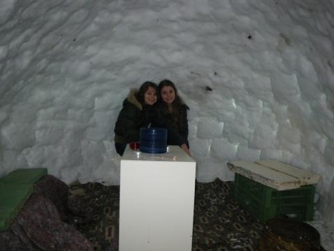 fertiges Werk - (Winter, Schnee, Iglu)