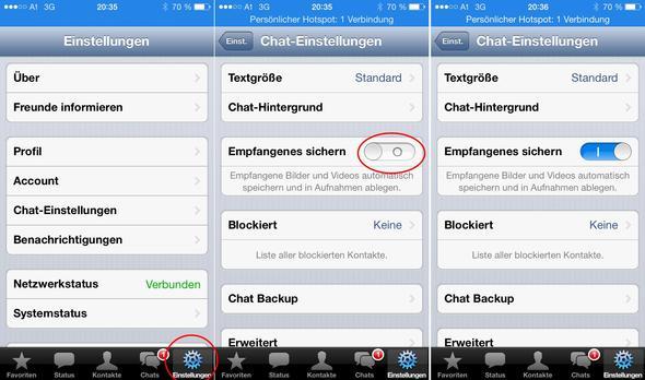 Iphone/ WhatsApp/ Einstellungen - (Smartphone, WhatsApp, Galerie)