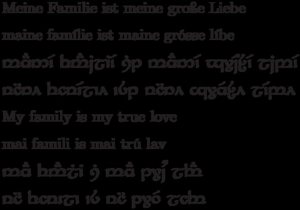 Tattoo In Der Elbischen Schrift Tengwar Elbisch Transkription