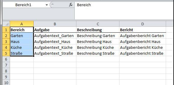 Bereich1 - (Excel, Formel)