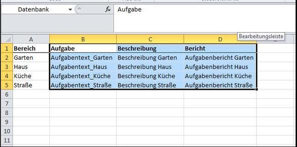 Datenbank - (Excel, Formel)