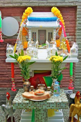 San Phra Phum (Geisterhäuschen) - (Religion, Haus, Gesellschaft)