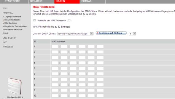 Easy Box Einzelne Geräte Sperren Lan Internet Vodafone Sperre