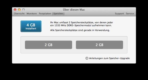 Die 4GB RAM Aufteilung super - (Apple, Mac)