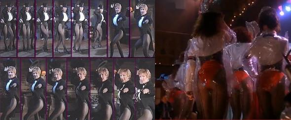 Bluse mit Leotard, ende 1980er - (Kleidung, Haushalt, tanzen)