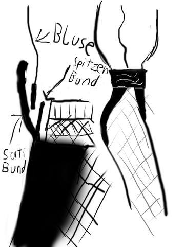 Skitze Bluse, Spezialtanga, Netzstrumpfhose - (Kleidung, Haushalt, tanzen)