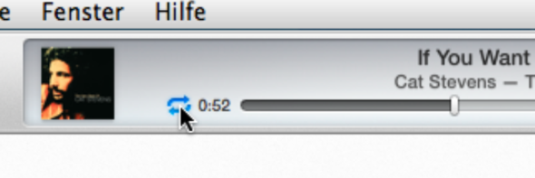 iTunes Wiederholung einschalten - (iTunes, Macbook)