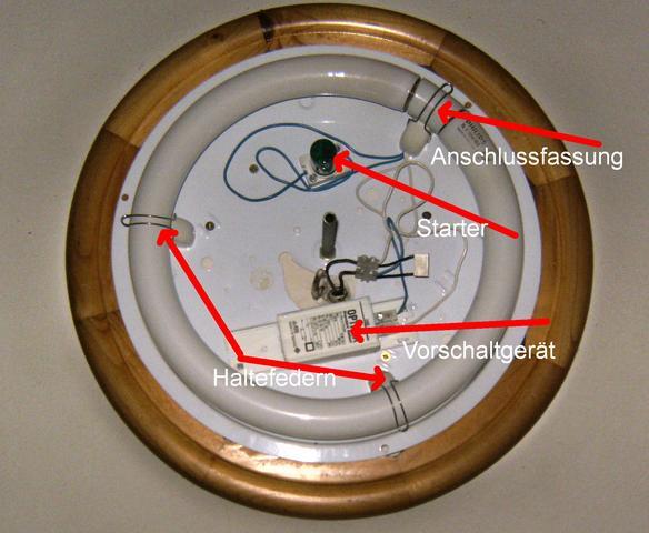 leuchtstoffr hre ring ohne fassung montieren licht. Black Bedroom Furniture Sets. Home Design Ideas