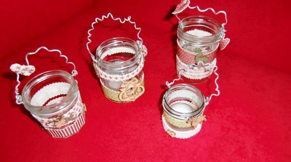 Teelichtgläschen - (Geschenk, Familie, Weihnachten)