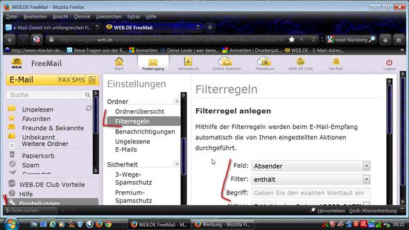 Filter - (Mail, gmx, Filter)