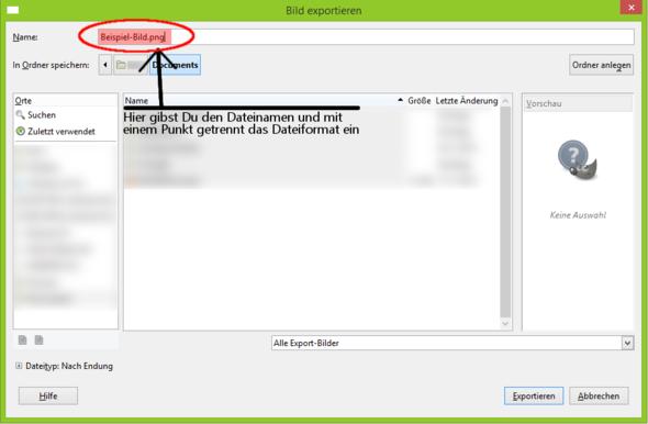 Bilder speichern unter GIMP. - (Foto, Gimp, Dateiformat)
