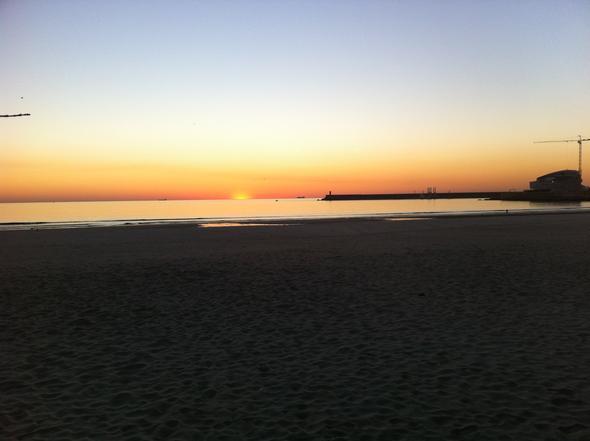 Sonnenuntergang in Matosinhos bei Porto - (Nachname, Portugal)