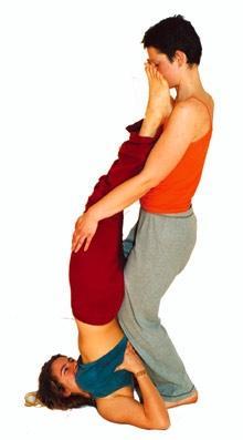 Yoga Partner Asana Schulterstand - (Yoga)