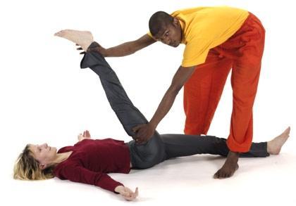 Yoga Partner Asana liegender Spagat - (Yoga)