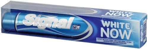 Das Bild Von der Signal-Zahnpasta - (Zähne, weiß, Zahnpflege)