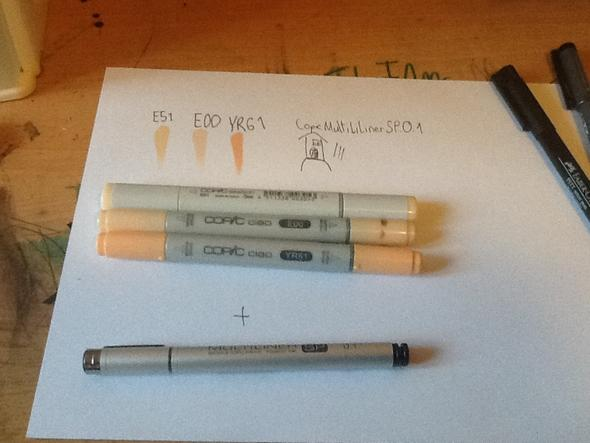 Copic ciao und sketch - (Hautfarbe, Copic)