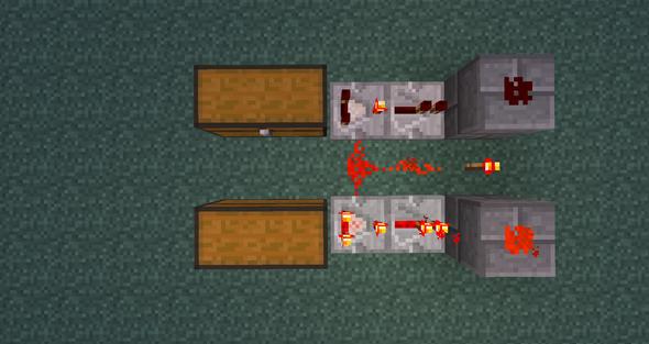 Füllstandsanzeige ( voll / nicht voll ) für Kisten in Minecraft - (Technik, Minecraft, Computerspiele)