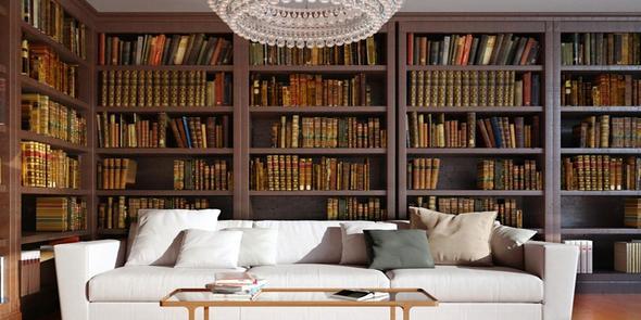 Wo finde ich m bel f r eine gro e privatbibliothek for Dunkelbraune wohnwand