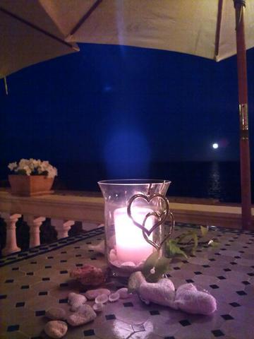 unser romantische Tisch im Rest. del Mar - (essen, Date, Mallorca)