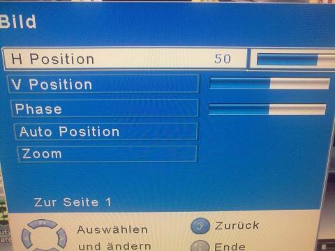 Bild einstellungen 2 - (Grafikkarte defekt, monitor probleme)