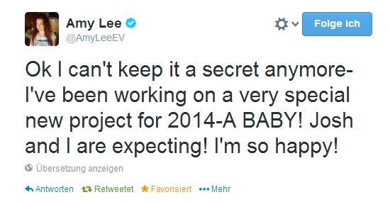 Amy Lee on Twitter: - (schwanger, Baby, Evanescence)