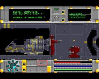 Amiga 500 - Cosmo Ranger - SOL AD - Screen 01 - (Spiele, Science Fiction, amiga)