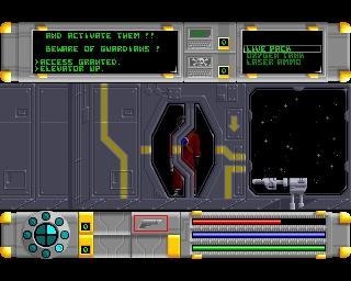 Amiga 500 - Cosmo Ranger - SOL AD - Screen 02 - (Spiele, Science Fiction, amiga)