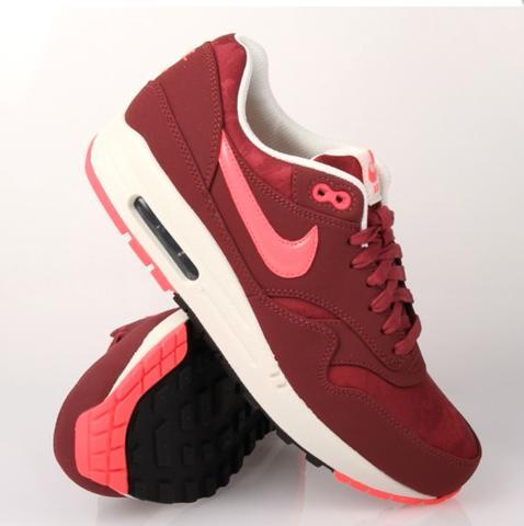 Nike Air Max 1 Premium Rot - (Schuhe, Nike, air max)