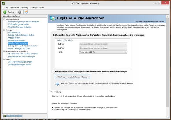 NVIDIA Digital Audio - (PC, TV, HDMI)