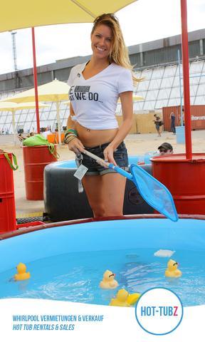 Mit Hot-Tubz fällt jede Party ins Wasser - (Wellness, Pool, Privaträume mieten)