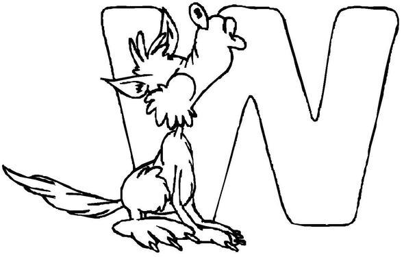 buchstabe w wolf - (Kunst, zeichnen)