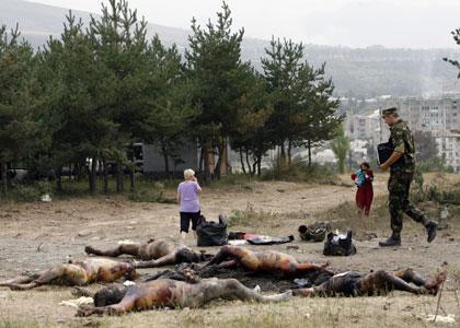 georgische Soldaten nahe Zchinvali1008410_src_path32.PyVw - (Tod, Kriegsfilm, schussverletzung)