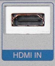 So sieht der Anschluß aus. - (TV, HDMI)