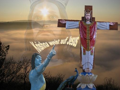 Kreuz mit auferstandenem Jesus in Madras - (Religion, basteln, Gott)