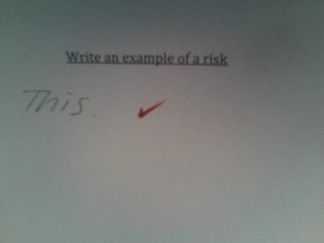 example of a risk - (Schule, deutsch)
