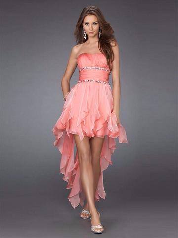 Pinkes mittel langes kleid - (Kleidung, Jugendliche, Hochzeit)