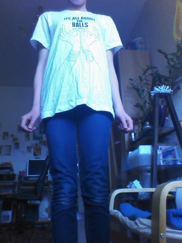 "Das bin ich mit dem ,, Its  all about  the balls "" shirt - (Shirt, ytitty)"