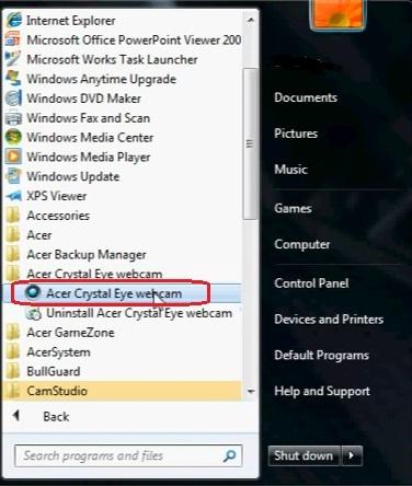 Acer Crystal Eye - (Skype, Webcam, Acer)