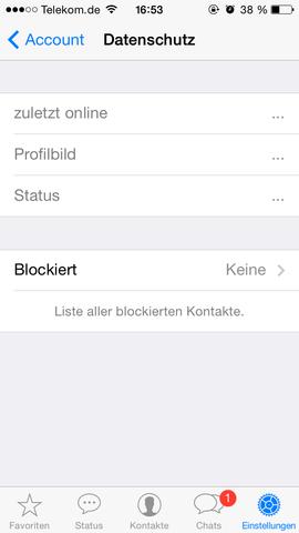 Whatsapp Kontakt blockieren - (iPhone, WhatsApp)